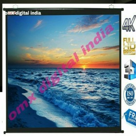 "Map Type Projector Screen, 6 W x 4 H OR 84""(IN IMPORTED HIGH GAIN FABRIC A+ GRADE"