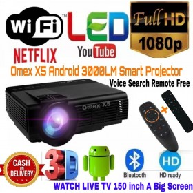 3000LM OMEX.X5 ANDROID SMART MIRACAST/WIFI/BT 1080P HD LED PROJECTOR BEST HOME THEATER CINEMA