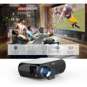 Vivibright GP100 LED Projector LCD 3500 Lumens LED Luminous, WXGA Resolution 1280x800 Pixels with Remote Controlle, Support HDMI, VGA, AV, USB