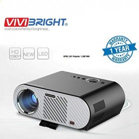 ViviBright 3200LM 1920*1080 HD Home Theater Portable LED Projector with Remote Controller, Support HDMI, VGA, AV, USB Interfaces,