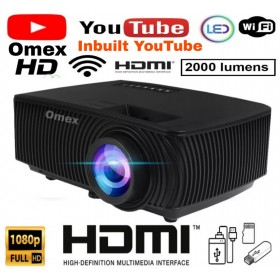 UPGRADE VERSION PLAY YOUTUBE 2000LM 1080P HD LCD PROJECTOR MIRACAST/DLNA/USB/SD/HDMI/VGA/AV INPUT