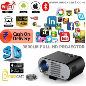 Vivibright Android 3500 Lumens LCD 1280P Full-HD LED Multimedia Home Theater Smart Projector for Movie, TVs, Laptops