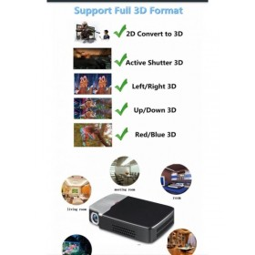 Smart active 2D-3D DLP PROJECTOR 1280×800p HD Android/WIFI/BT/ BEST USE BUSINESS/CLASS/SCHOOL/HOTEL