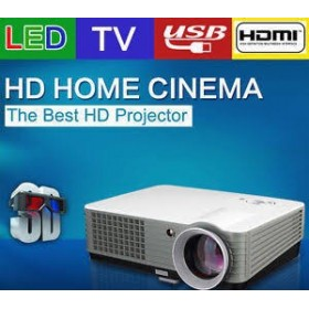Full HD Home Cinema Video Projector 3000Lumens 180 inch Big Screen
